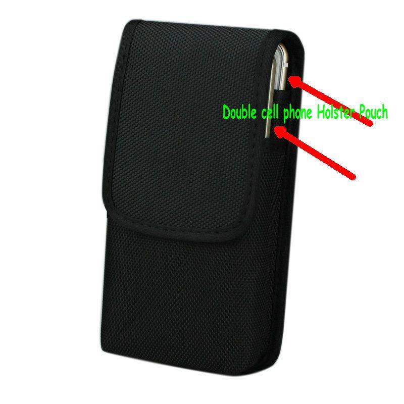 Double téléphone portable Taille Pack, pour iphone 6 splus 5.5 pouce Étui En Nylon Sac avec Ceinture cas Clip Étui Pour Galaxy Note 5 s7 bord