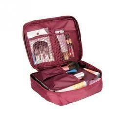 Kasus Kosmetik Make Up Organizer Tas Penyimpanan Perjalanan Mencuci Kantong Nilon Ritsleting Tas Make-Up 20