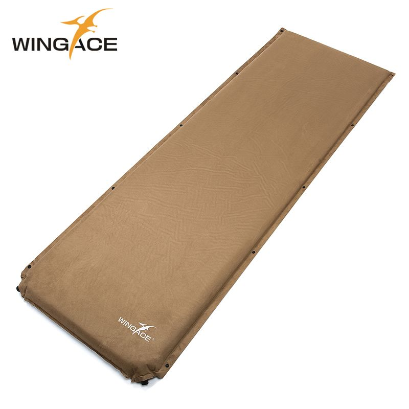 Thick 8CM Suede Camping Mat Outdoor Folding Camp Bed Tent Sleeping Pad Air Mat <font><b>Tourist</b></font> Automatic Inflatable Mattress pad