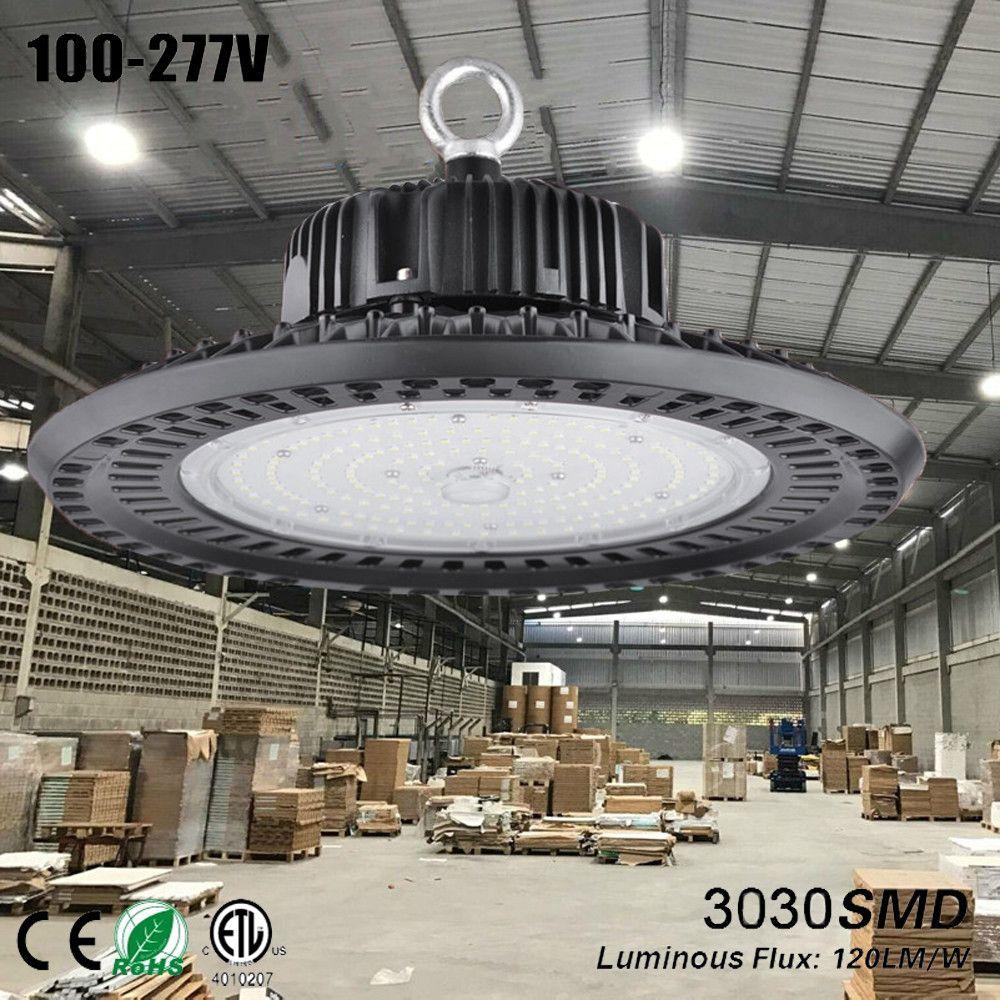 Ufo led lampen industrieel größer leuchte ufo hohe bucht führte licht bouwlamp garage lampe werkstatt licht 150w schwarz lampe lager