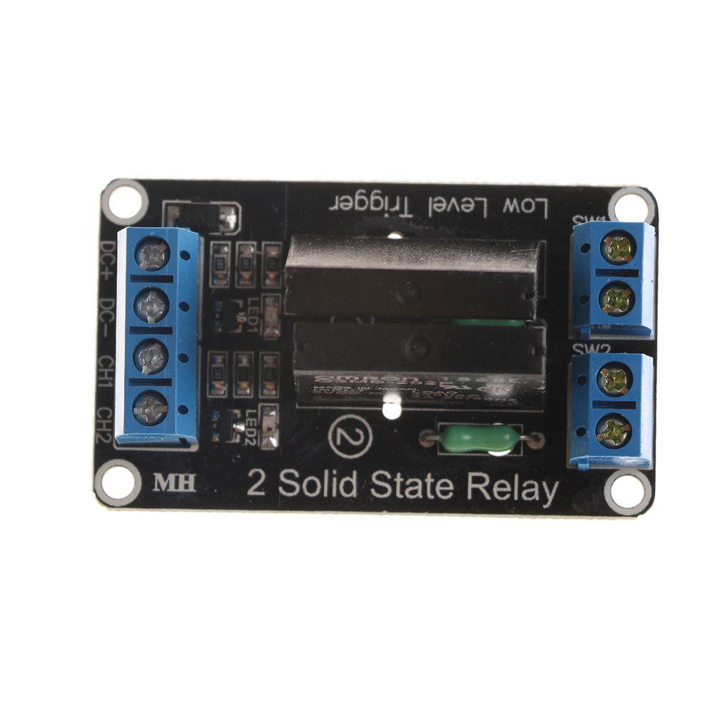 1 stück 2 Kanäle 5 v SSR Hohe Solid State Relais Modul 240 v 2A