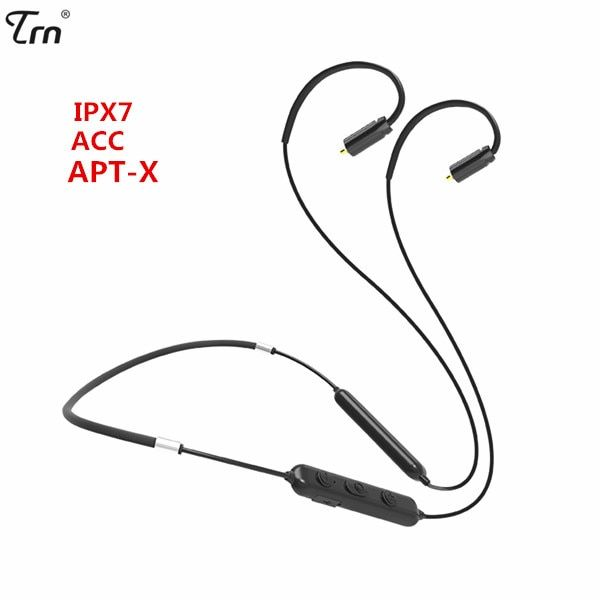 TRN BT10 Wireless Bluetooth 4.2 APT-X IPX7 Waterpproof Cable HIFI Earphone 2PIN/MMCX Use For V10 V20 V80 Yinyoo HQ5 HQ6 HQ8