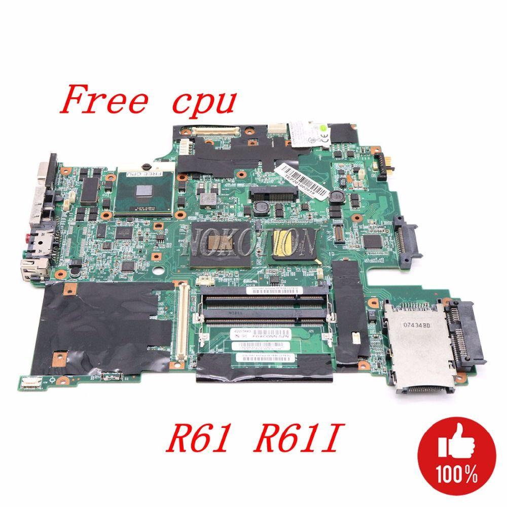 NOKOTION 42W7883 Main board Für Lenovo Thinkpad R61 R61I Laptop Motherboard 15,4