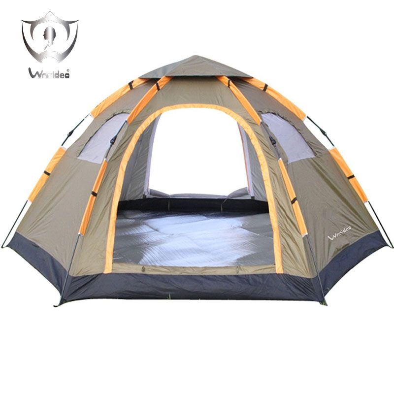 2018 Wnnideo Instant Family 3-5 Person Tent Large Automatic Pop Up Tent Waterproof for Outdoor Camping Tent Hiking