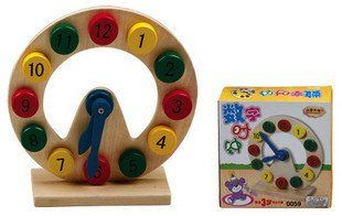 Best price Special digital clock counting think know time children educational wooden toys gift  creative Pointer