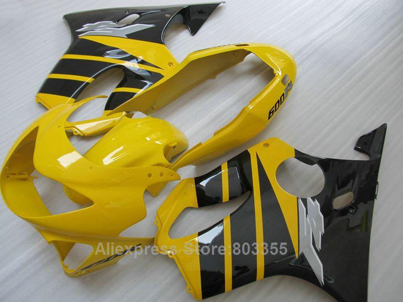 100% fit Für Honda CBR 600 F4 99 00 (gelb schwarz linien) cbr 600 Spritzguss 1999 2000 verkleidung kit xl64