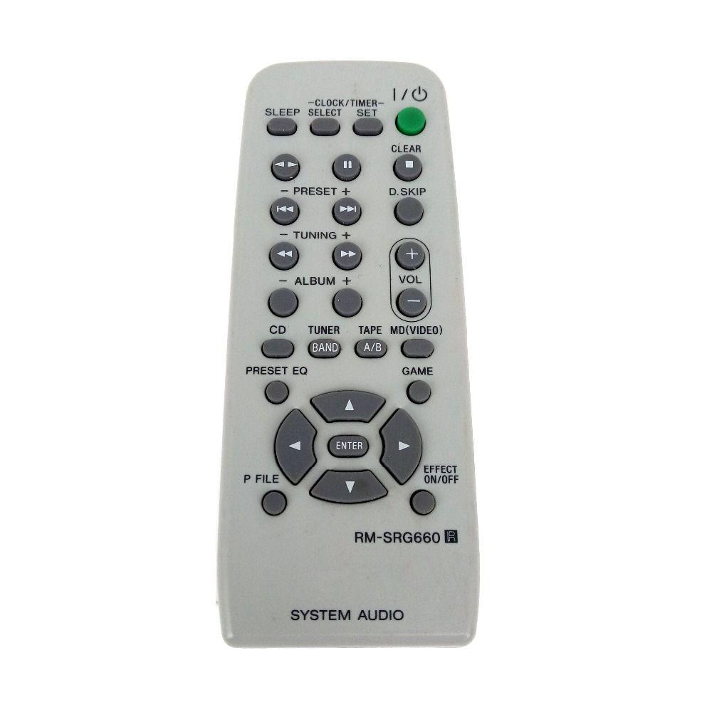Nouveau Original pour SONY RM-SRG660 chaîne Hi-Fi à distance pour MHC-RG330 MHC-RG440S