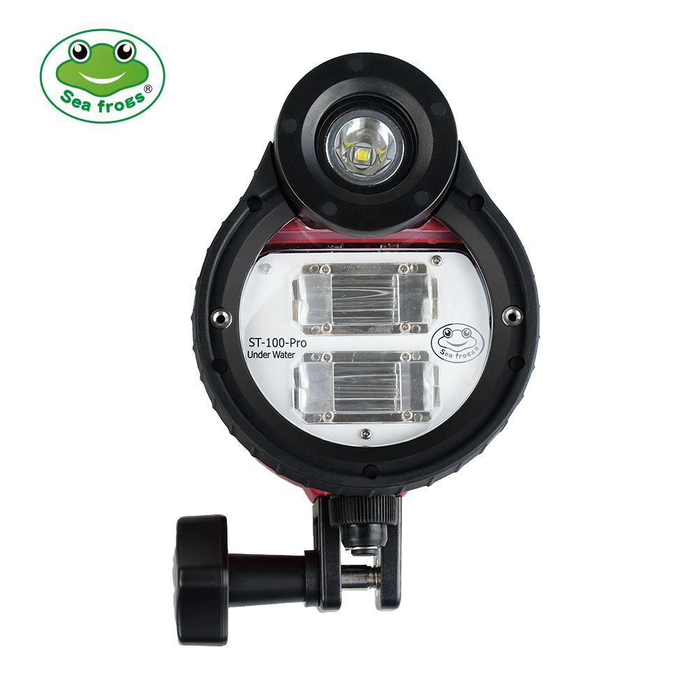 Seafrogs ST-100 Pro Wasserdicht Flash Strobe 5500 K für Sony Canon Fujifilm Nikon Unterwasser Kamera Gehäuse Tauchen Fall