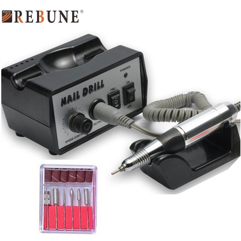 REBUNE 40W 35K RPM Electronic Nail Drill Machine Set Multifunction Graver Quality Professional Nail Art Tools With Accessories