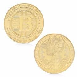 2017 Bitcoin Coins Collectible BTC Art Collection Souvenir Physical Gift Gold Silver Plated