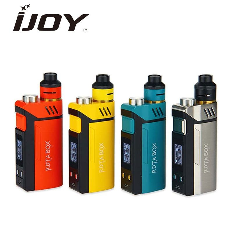 100% Original IJOY RDTA boîte Kit 200 W avec 12.8 ml grand réservoir e-jus & 220 W RDTA boîte MOD & IMC-3/imc-bobine 3 bobine e-cig Vape Mod