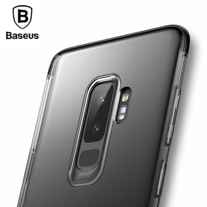 Baseus Luxury Shockproof Case For Samsung Galaxy S9 S9 Plus Transparent Clear Armor Back Cover Case For Galaxy S9 S9+ Capinhas