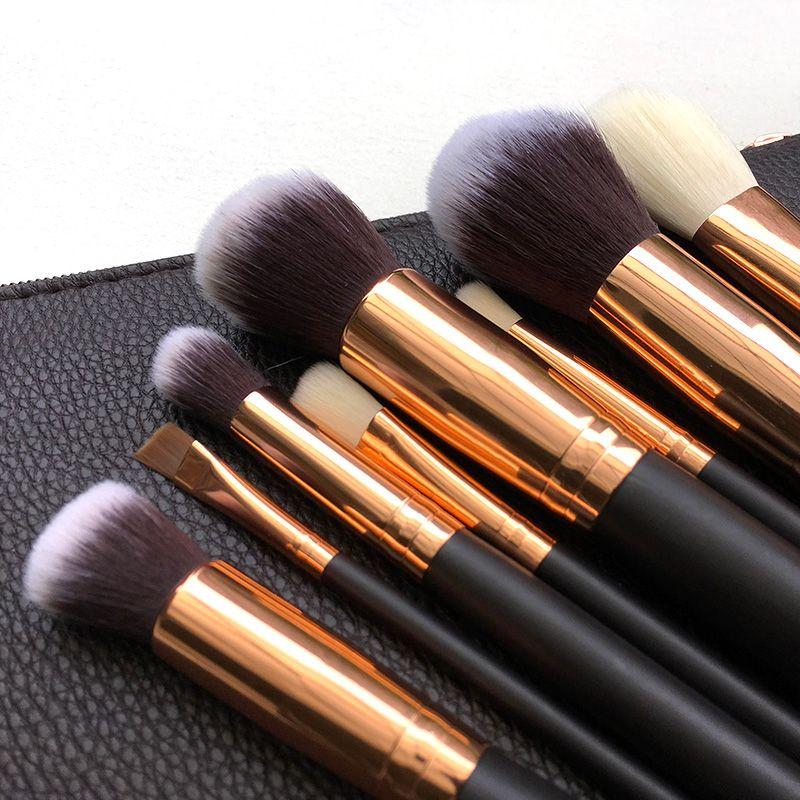 Professionnel Marque 8 pcs Maquillage Pinceaux Poudre Fondation Yeux ombre Brosse À Sourcils Cosmétiques Make Up Outil