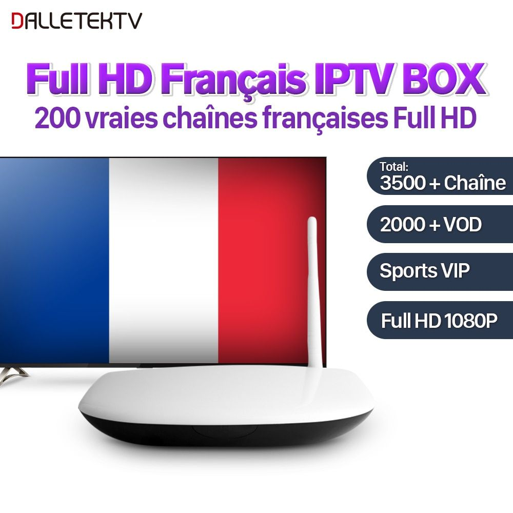Dalletektv Full HD French Canada IPTV Box Android 6.0 SUBTV Subscription IPTV French Arabic VIP Live Sports IPTV VOD French