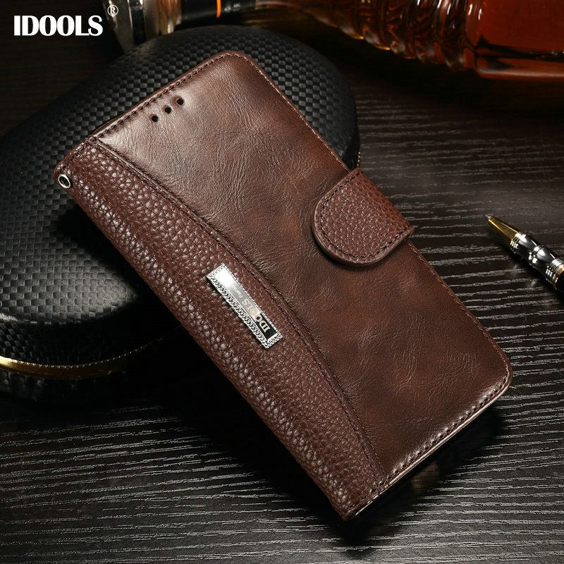 IDOOLS for Xiaomi Redmi 6 5 Plus 4X Case Luxury Dirt Resistant PU Leather Flip Wallet Cover Phone Bags Cases Redmi Note 4 6A