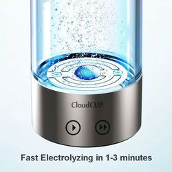 Titanium japonés calidad de agua rica en hidrógeno taza ionizador fabricante/generador dos modos súper antioxidantes ORP hidrógeno botella 480 ml