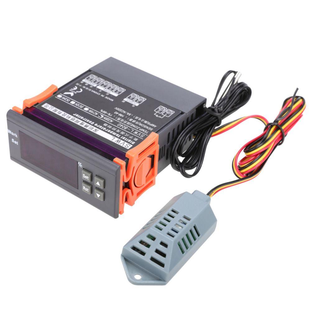 220V Digital Air Humidity Controller Digital Controller Meter Sensor Hygrometer Hygrostat Station meteoDe Umidita Di Controllo