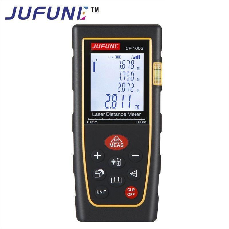JUFUNE laser mètre de distance 40 m 60 m 80 m 100 m 120 m télémètre trena laser bande gamme finder construire mesure dispositif règle outil de test