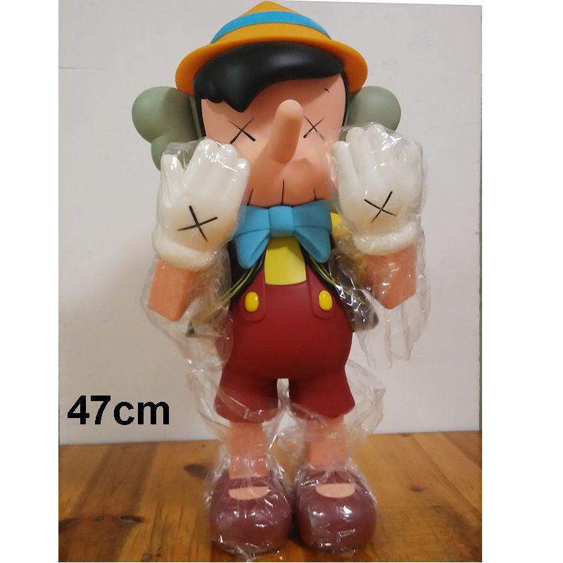 20inch 47cm Oversize Standing Original Fake KAWS Pinocchio medicom toy kaws factory product ( Fast Shipping)