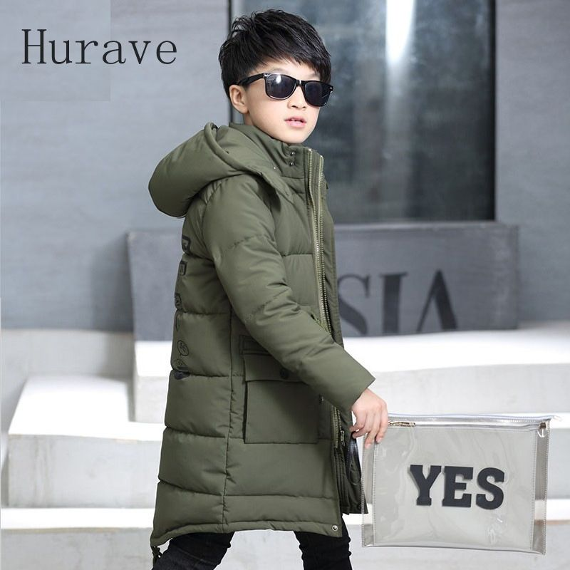 Hurave 2017 New arrival fashion boys coat outwear warm thicking jacket for boy kids children clothing