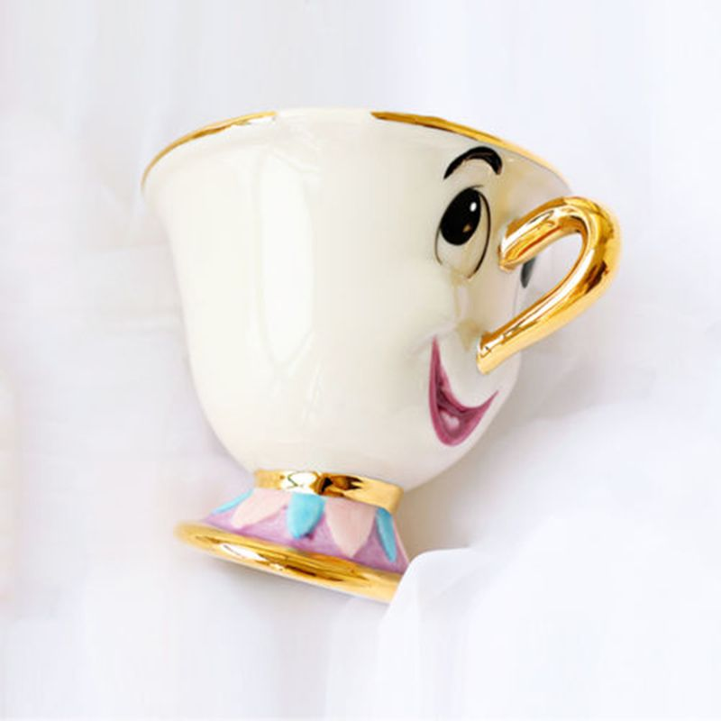 Ensemble de tasses à thé beauté et bête en édition limitée, tasse à café en céramique, porcelaine, cadeau de noël