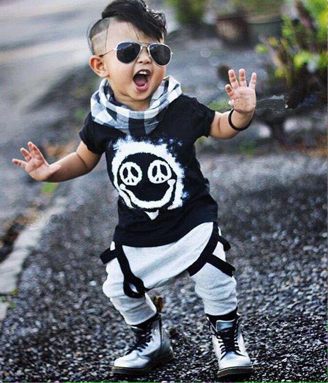 Nouvelle marque de mode été bébé filles garçon vêtements ensembles à manches courtes coton T-shirt Top + pantalon bébé garçons fille vêtements bébé costumes