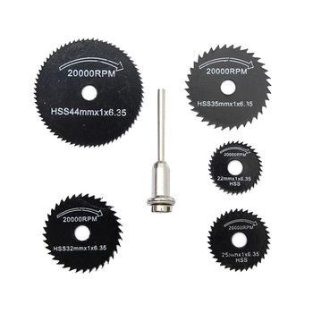 6 Pcs Foret Dremel Accessoires HSS Mini Circulaire Lames de Scie Outils Électriques Bois Disque De Coupe De Broyage De Roue Set pour Dremel outils