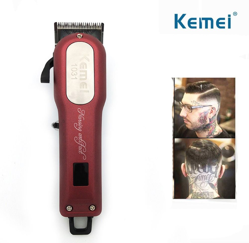 Kemei Professional Cordless Hair Clipper Electric Hair Beard Trimmer Powerful Hair Shaving Machine Hair Cutting Razor Barber