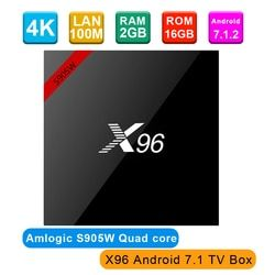 NEW! Original X96 Android TV BOX 7.1 Amlogic S905W Quad core 2GB 16GB Set Top Box 2.4GHz WiFi HDR10 17.4 Smart Media Player