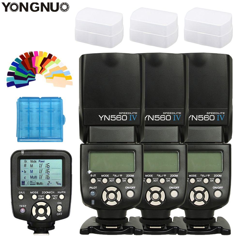 3 stücke YONGNUO YN560 IV YN560IV Speedlite Für Canon Nikon + YN560TX Controller Drahtlose Heißer schuh Universal flash Flash Trigger
