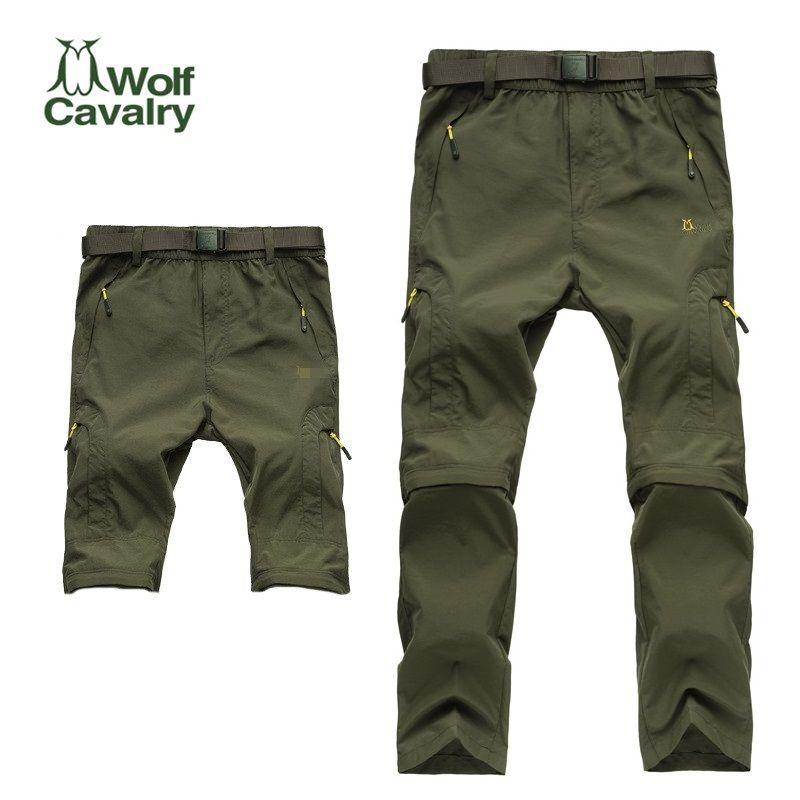 Offres spéciales camping randonnée séchage rapide pantalon voyage actif amovible randonnée pantalon extérieur escalade pantalon