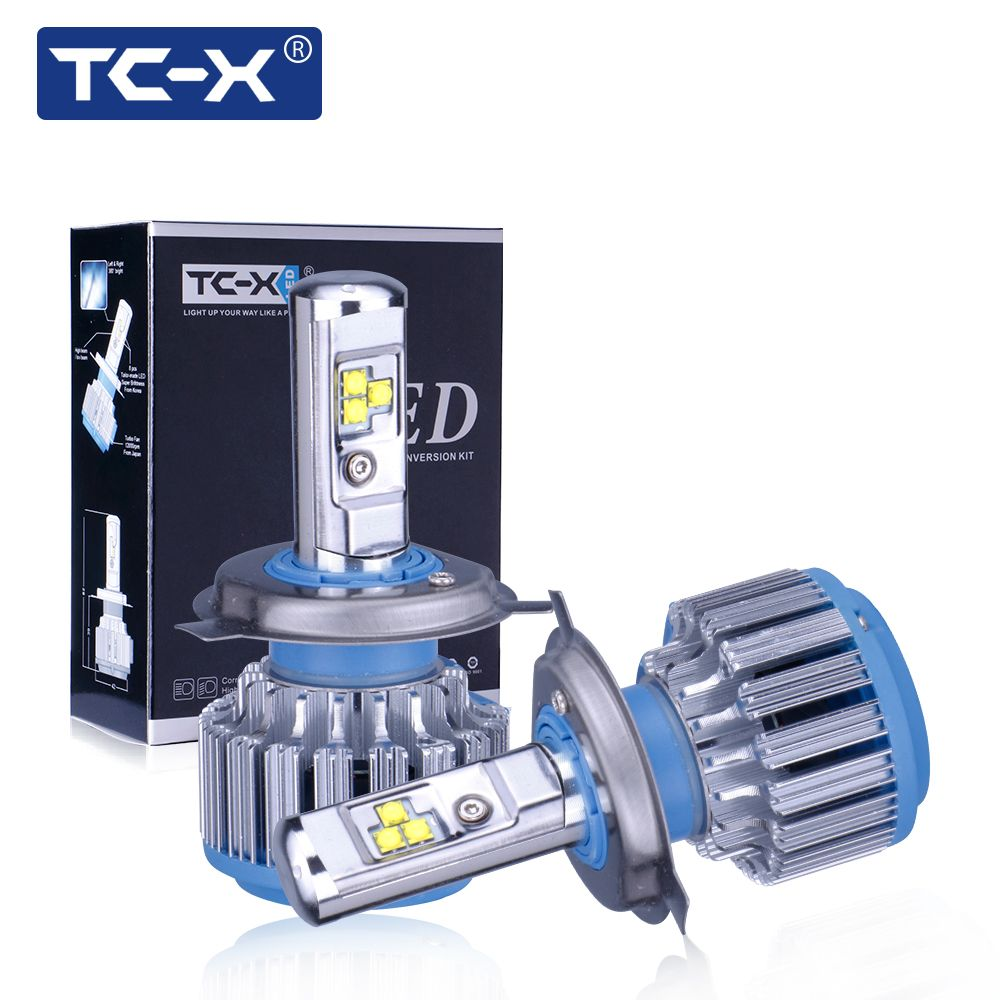 TC-X Car Lights LED Headlight Kit H7 H1 H4 H11 9006 9005 H3 880 Fog lamp