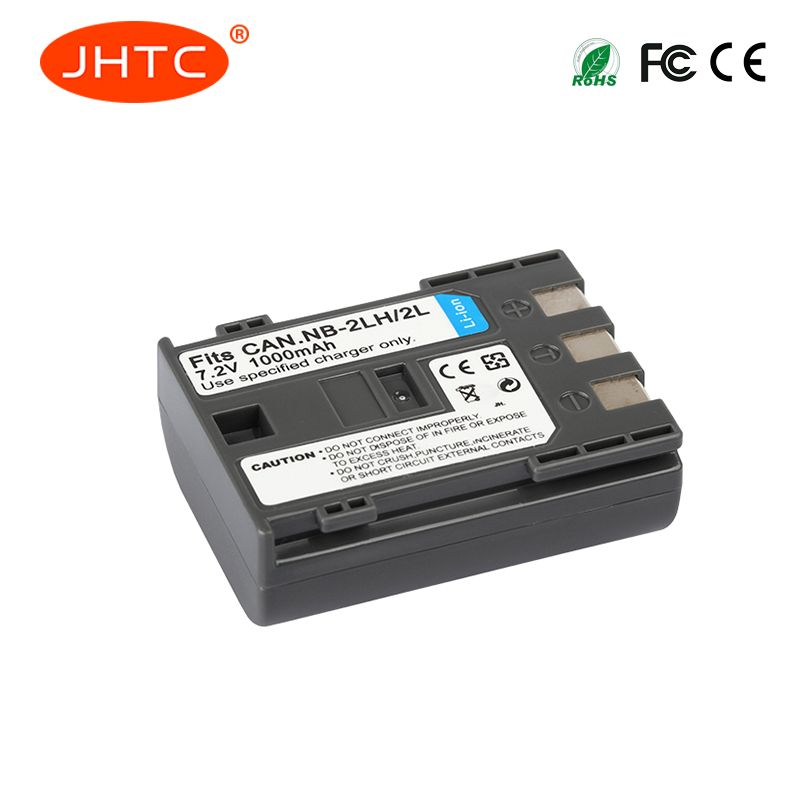 JHTC 2 Pcs/lot 1000 mAh NB-2L NB2L NB-2LH NB 2LH NB2LH Batterie D'appareil Photo Numérique Pour Canon Rebel XT XTi 350D 400D G9 G7 S80 S70S30
