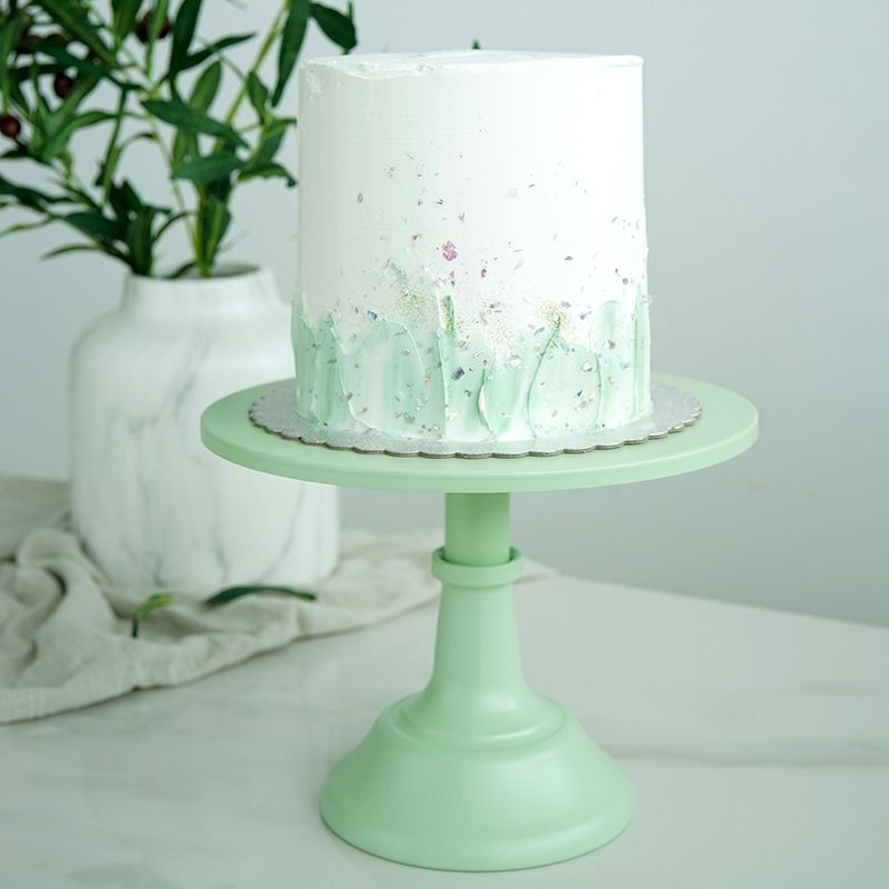 SWEETGO Green cake stands 10inch fondant dessert holder cake pops wedding table decorating tools dessert party suppliers