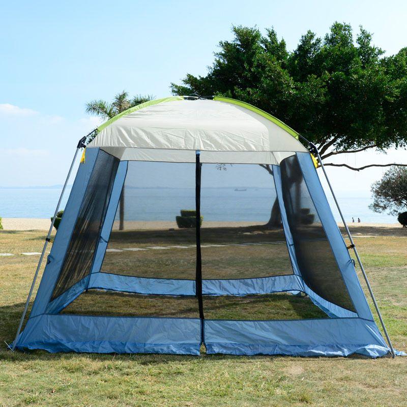 Doppelschicht markise strand zelt sonnendach außenzelt UV schützen mat-markise pavillon shelter zelt ohne boden matte