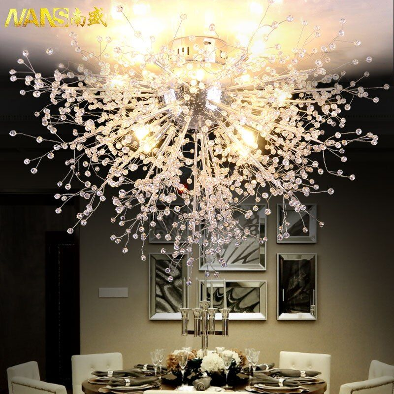 NANS Modern Ceiling Light With LED Bulb Ceiling Lamp Cristal Ceiling Fixtures for Living Room Bedroom lamparas de techo abajur