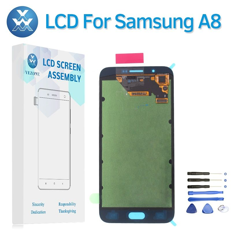 Super AMOLED For Samsung Galaxy A8 2015 A800 A8000 LCD Display with Touch Screen Digitizer Replacement Pantalla Assembly +Tools
