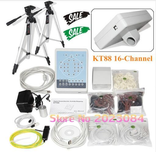 KT88-1016 16-kanal Tragbare Digitale EEG Gehirn Mapping Scanner