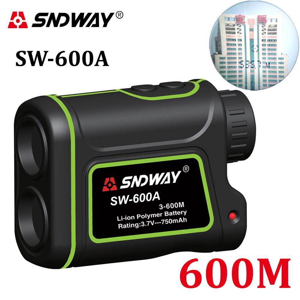 SNDWAY 600m Handheld Monocular Golf Laser Rangefinder <font><b>Distance</b></font> Meter hunting Telescope trena laser range finder measure outdoor