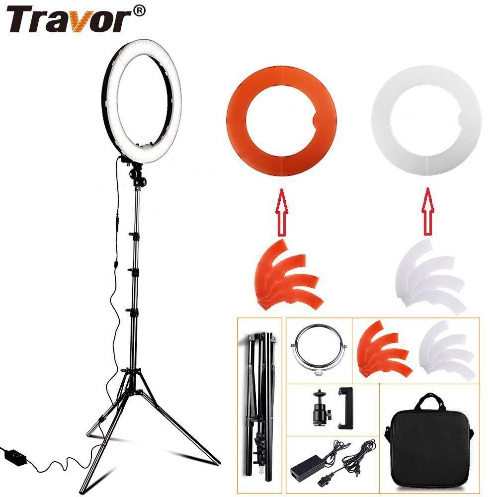 Travor LED Ring Light Dimmable Bi-color 18
