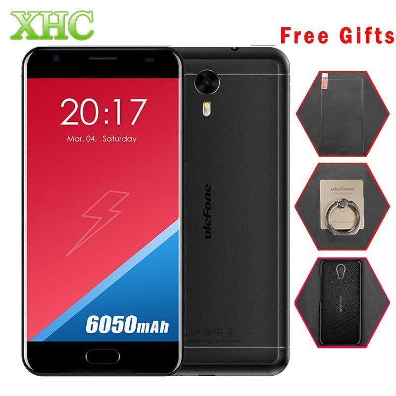 Ulefone Puissance 2 64 GB 6050 mAh Mobile Téléphone 5.5 pouce Android 7.0 MTK6750T Octa Core RAM 4 GB 1920x1080 pixels Dual SIM Smartphone