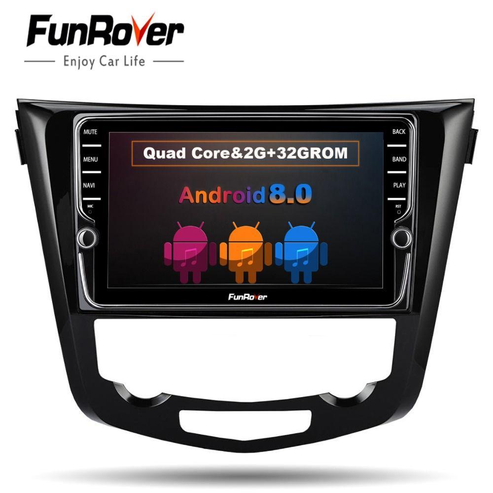 Funrover 9'' Car dvd Multimedia Radio Player for Nissan X-Trail Qashqai 2014 -2017 Auto Stereo navigation GPS wifi audio No dvd