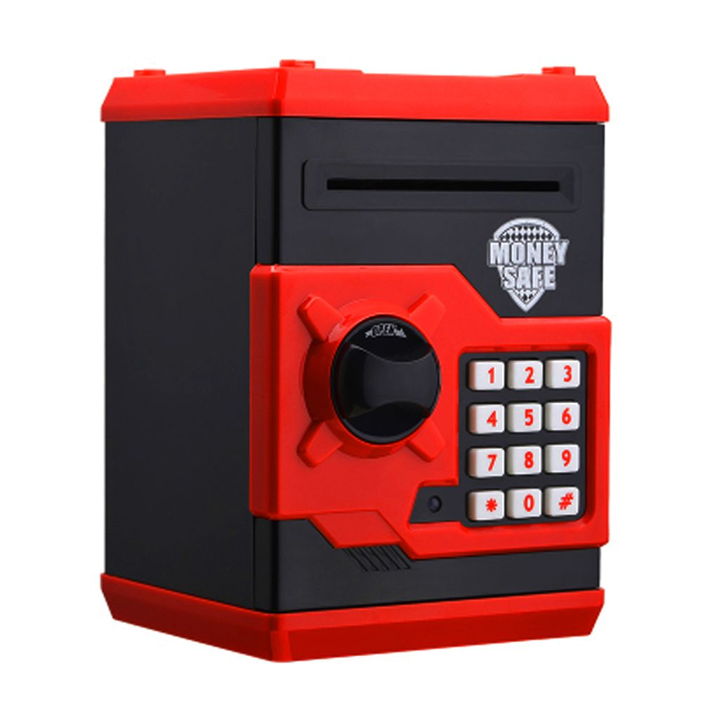 Design Red Metal Piggy Money Telephone Booth Kids Coin Saving Pot Box Money Saving Box Kids Christmas Gifts 185 x 130 x 120 mm
