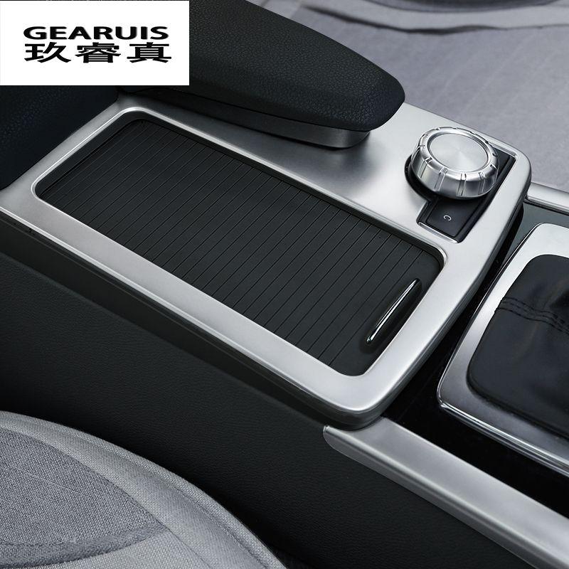 Стайлинга автомобилей интерьера Нержавеющая сталь держатель стакана воды Панель украшения отделка для Mercedes Benz E Class W212 Coupe 2010-2012 LHD