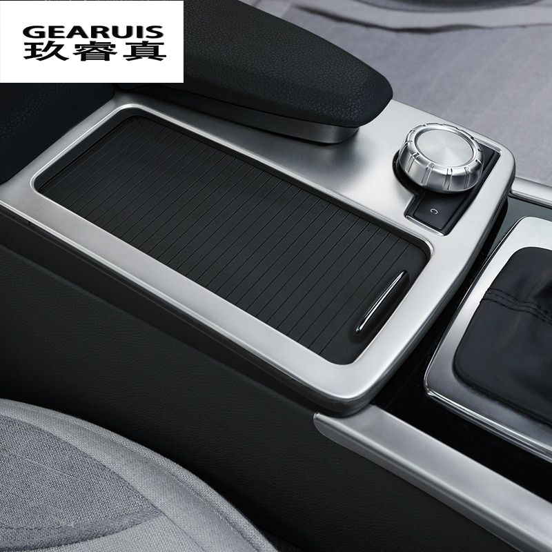 Car Styling Interior Stainless Steel Water Cup Holder Panel Decoration Trim For Mercedes Benz E class W212 Coupe 2010-2012 LHD