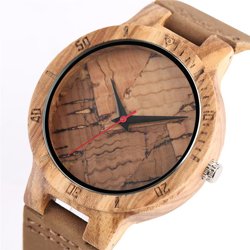 Unique Wood Watches Bamboo Walnut Texture Design Complicate Exquisite Wooden Watch for Men Women Wristwatches relogio masculino