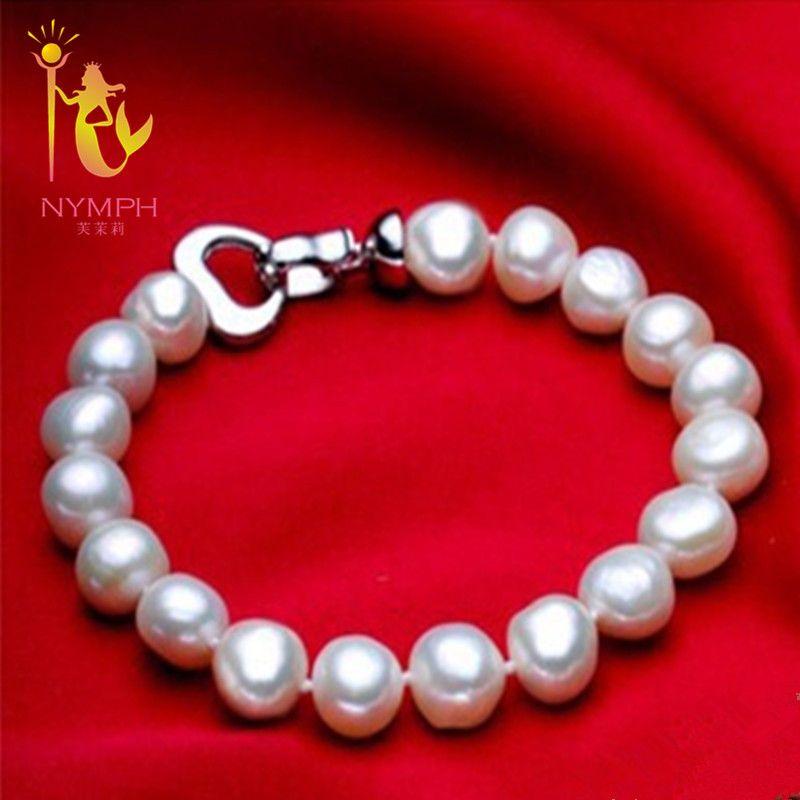 NYMPHE perle bijoux bracelets baroque perle bracelets beaux jewlery blanc d'eau douce perle cadeau pour femmes S007