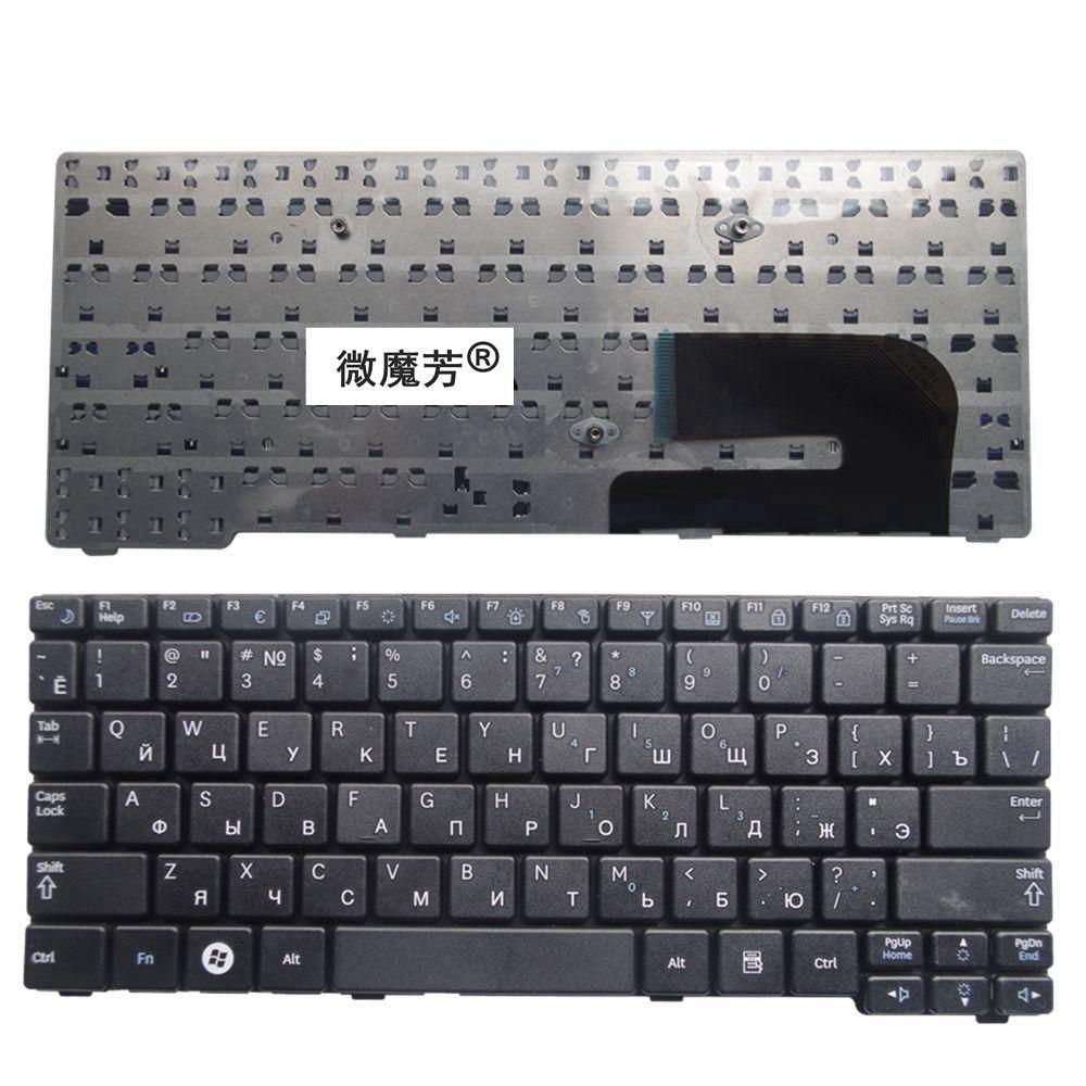 RU Black New FOR Samsung N148 NB20 NB30 NB30P N143 N145 N148P N150 N128 Laptop Keyboard Russian
