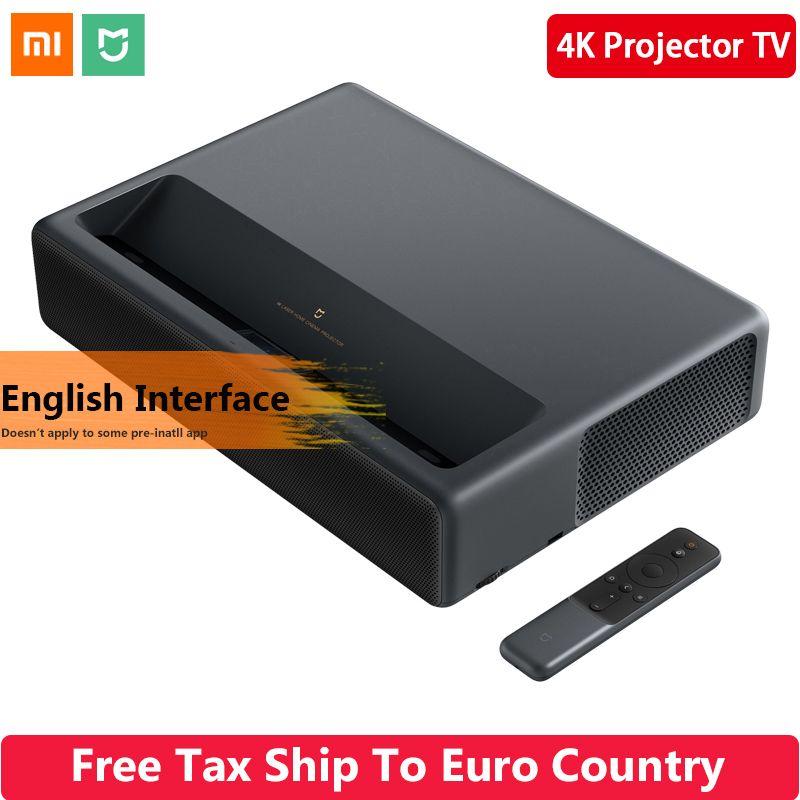 Original 2019 Xiaomi Mijia Laser Projektion TV 4K Heimkino 200 Zoll Wifi 2G RAM 16G Englisch interface Unterstützung HDR DOLBY DTS