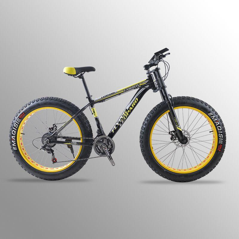 Mountainbike fahrrad 24 geschwindigkeit Aluminium legierung rahmen 26x4,0 fett bike fahrrad Schnee bike Vorne und Hinten Mechanische disc Brade Männlichen